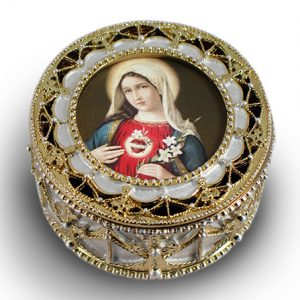 Immaculate Heart of Mary Rosary Box #489-IHM7-0