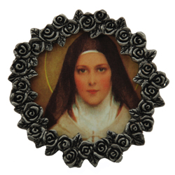 St.Therese Mini Pewter Frame #MPF-STT-0