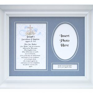 Personalized Boy Baptism Plaque #MFS-BAPB-P-0