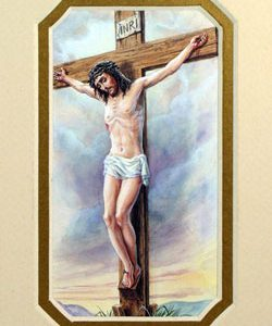 Crucifixion 3x5 Prayerful Mat #35MAT-CRX-0