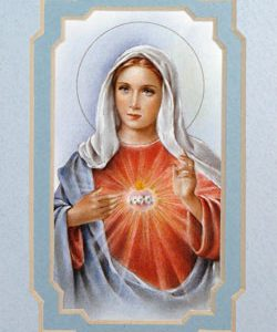 Immaculate Heart of Mary 3x5 Mat #35MAT-IHM2-0