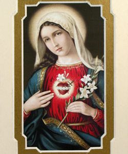 Immaculate Heart of Mary 3x5 Mat #35MAT-IHM7-0