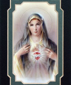 Immaculate Heart of Mary 3x5 Mat #35MAT-IHMg-0