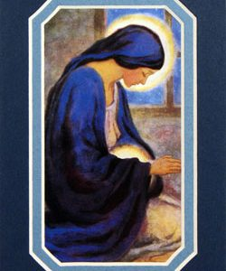 Our Lady of the Unborn 3x5 Mat #35MAT-OLM-0