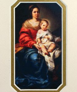 Our Lady of the Rosary 3x5 Prayerful Mat #35MAT-OLR-0