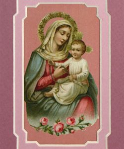 Our Lady of the Rosary 3x5 Mat #35MAT-OLR(b)-0
