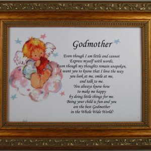 Godmother 5x7 Gold Frame Plaque #57F-GMK-0