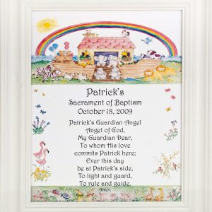Personalized Baptismal Plaque #810F-NARK-P-0
