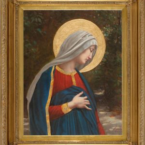 Our Lady with Child Oil Canvas Painting-0