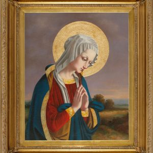 Our Lady in Prayer Oil Canvas Painting-0