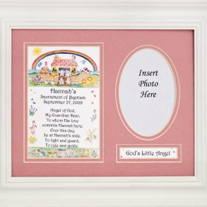 Personalized Girl Baptism Plaque #MFS-NARKG-P-0