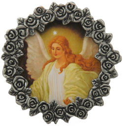 Guardian Angel Mini Pewter Frame # MPF-GA-0