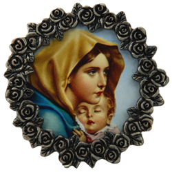 Madonna of the Streets Mini Pewter Frame #MPF-MS-0