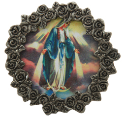 Our Lady of Grace Mini Pewter Frame #MPF-OLG-0