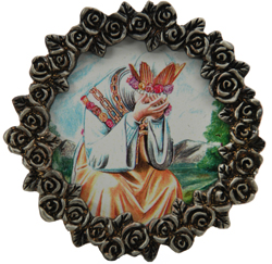 Our Lady of LaSallette Mini Pewter Frame #MPF-LAS-0