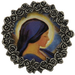 Our Lady of the Unborn Pewter Frame #MPF-OLM-0