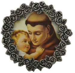 St. Anthony Mini Pewter Frame #MPF-STA-0