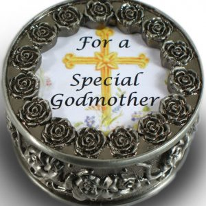 Godmother Pewter Rosary Box #PRBX-GM-0