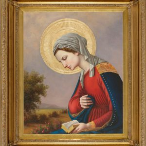 Madonna Reading Oil Canvas Painting-0