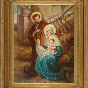 Nativity Oil Canvas Painting-0