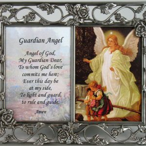 Guardian Angel Pewter Frame / Prayer #23DPF-GA-0