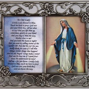 Our Lady of Grace Pewter Frame #23DPF-OLG-0