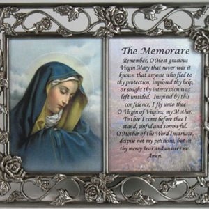 Our Lady of Sorrows Pewter Frame /prayer #23DPF-OLS-0
