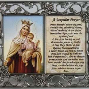 Mount Carmel Frame with prayer #23DPF-MTC-0