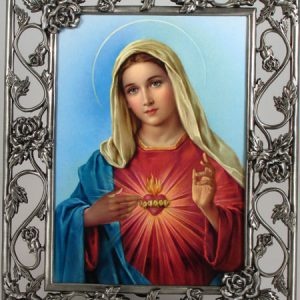 Immaculate Heart 5x7 Rose Frame #57PF-IHM5-0