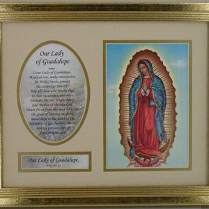 Our Lady of Guadalupe Plaque with Prayer#MFS-G-G-0
