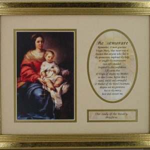 Our Lady of the Rosary Plaque with Prayer #MFS-OLR-0