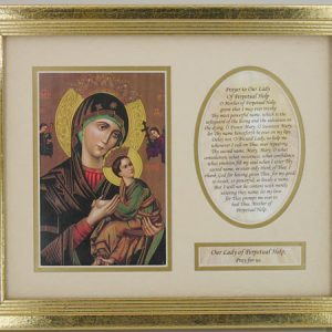 Perpetual Help Matted Plaque with Prayer #MFS-PH-0