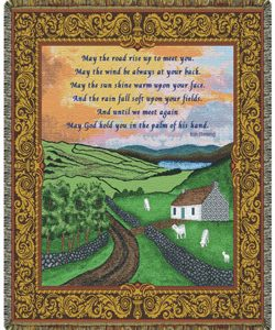 Irish Prayer 48x60 Blanket #COV-IP-0