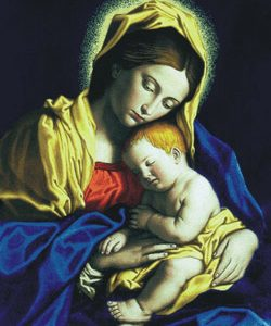 Madonna and Child Blanket #COV-MCB-0