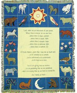 Prayer to St Francis Blanket 48x60 #COV-PSTF-0