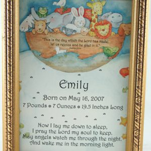 Personalized Newborn Baby Boy Plaque #57F-NB-NARK-0