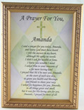 "Personalized ""I said a Prayer for You"" 5x7Plaque#57F-ISP-P-0"