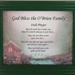 Personalized Irish Plaque #811-IP-P-0