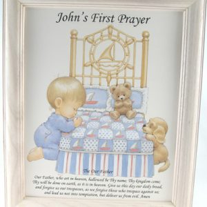 Personalized Boy's 1st Prayer Plaque #810F-FPB-P-0