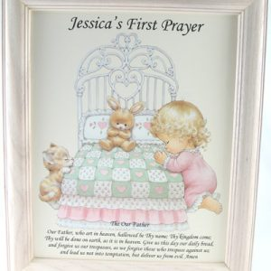 Personalized Girl's 1st Prayer Plaque #810F-FPG-P-0