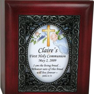 Personalized Communion Keepsake Box #SJBX-COM2-P-0