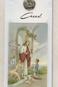 1st Communion Boy's Medal/Prayer Card #PC9911B-0