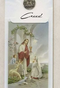 1st Communion Necklace with Prayer Card #PC9911G-0