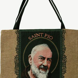 St. Pio Woven Tote Bag #TB-PP-0