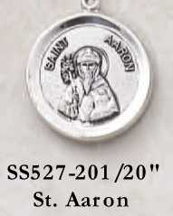 St. Aaron Medal #SS527-201-0