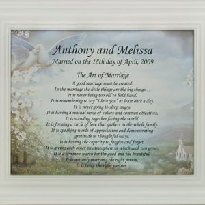 Personalized Art of Marriage 8x10 Plaque #810F-AM-DV-P-0