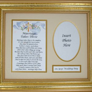 Marriage Takes Three 8x10 Plaque #MFS-MT3-0