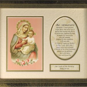 Our Lady of the Rosary Plaque with Prayer #MFS-OLR(B)-0
