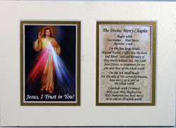 The Divine Mercy 5x7 Mat 57MAT-DM-0