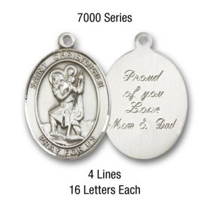 Personalized St. Christopher Medal #7000-0